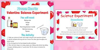 Frozen Hearts Valentine Science Experiment - Science, Experiment, Valentines, heart