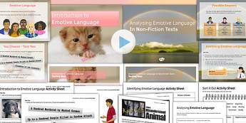 Emotive Language Two Lesson Pack - emotive language, two, lesson pack, lesson, pack