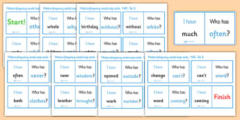 Medium Frequency Words Loop Cards Set 3 (Y4 & Y5) - medium frequency words, loop cards, set, set 3, frequency words, words, medium, Y4, Y5, year 4, year 5, five, four, year, loop cards, cards, flashcards, loop, image