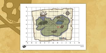 Pirate Treasure Map - pirate, pirates, ship, sea, treasure, treasure map, map, boat, island