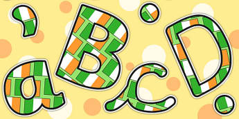 Ireland Size Editable Display Letters - ireland, country, letter