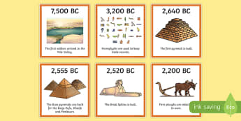 Ancient Egypt Timeline Ordering Activity - egyptians, order, sort