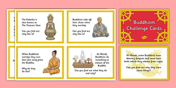 Buddhism Challenge Cards - buddhist, Buddha, India, monk, meditation