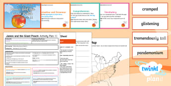 Y4 James and the Giant Peach: Activity Plan 11 PlanIt Guided Reading Pack to Support Teaching on James and the Giant Peach - James and the Giant Peach, roald dahl, insects, carousel.
