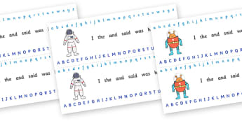 Alphabet Strips (Space) - education, home school, child development, children activities, free