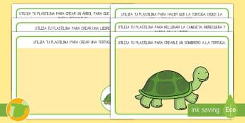 Tapices de plastilina: La liebre y la tortuga - cuento, infantil, moraleja, liebre, tortuga, fábula, valores, animales,,Spanish