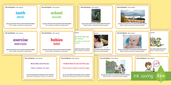 Guided Reading Skills Task Cards Fact and Opinion English/Italian - Guided Reading Skills Task Cards Fact and Opinion - fact, reading, reding, fact vs opinion, fact vs.