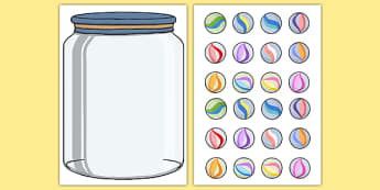 Marble Jar Reward Display - marble jar, reward, display, poster, fill