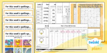 PlanIt Year 5 Term 2B  Bumper Spelling Pack - Spellings Year 5, Y5, SPAG,  GPS, spelling, words, list, pack, medium term. spring term, bumper pack
