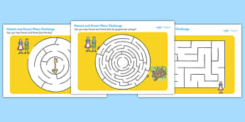 Hansel and Gretel Differentiated Maze Activity Sheet Pack - mazes , worksheet
