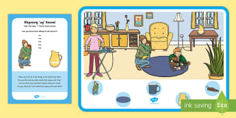 Rhyming 'ug' Sound Can You Find...? Poster and Prompt Card Pack - Phase 1 Aspect 4: Rhythm and Rhyme, letters and sounds, phonics, rhyming, rhyme, -ug, jug, mug, plug