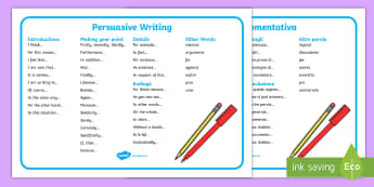 Persuasive Writing Word Mat English/Italian - writing, write, word mat, keywordsliteracy, writing, persasive writing, persausive, persuausive, wor