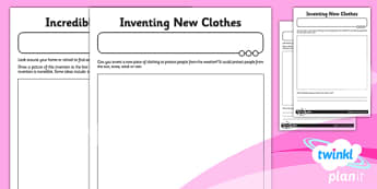 PlanIt - Science Year 1 - Scientists and Inventors Home Learning Tasks - planit, science, year 1, scientists and inventors, home learning