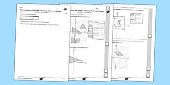 Year 6 Maths Assessment Term 3 Geometry Position and Direction - Key Stage 2, KS2, Maths, assessment, geometry, position, direction