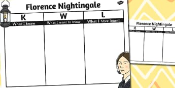 Florence Nightingale Topic KWL Grid - nightingale, topic, kwl