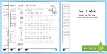 Maths Number and Place Value Working From Home Activity Booklet - KS2 Maths Working from home activity booklets, place value, number, counting, add 10, add 100, subtr