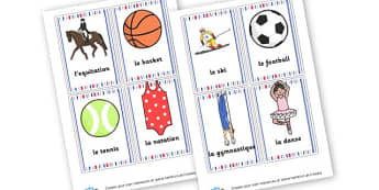 Sport French Display Cards - French Display Primary Resources,  French, Display, Languages