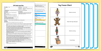 EYFS The Toys at Night Adult Input Plan and Resource Pack - Toys, dance, movement, pe, freezes, balancing, one leg, hopping, ead, image, games