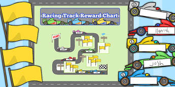Racing Track Reward Display Pack - racing track, reward, display