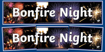 Bonfire Fireworks Photo Display Banner - bonfire fireworks, photo display banner, photo banner, display banner, banner, banner for display, display photos