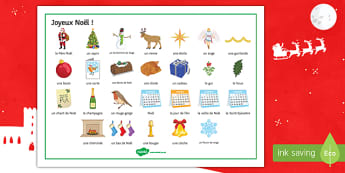 French Christmas Word Mat