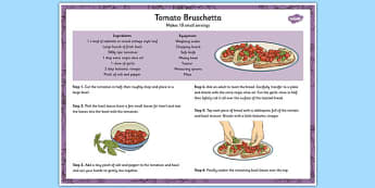 Recipe Tomato Bruschetta - toast, tomatoes, cooking, recipes