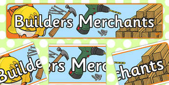 Builders Merchants Role Play Banner - role-play, banner, display
