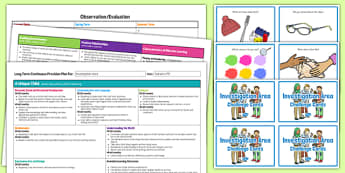 Investigation Area Editable Continuous Provision Plan and Challenge Cards Pack Nursery FS1