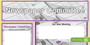 Newspaper Committee Display Banner and Poster - newspaper committee, display banner, display, banner