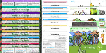 EYFS Rumble in the Jungle Bumper Planning Pack - jungle, bumper