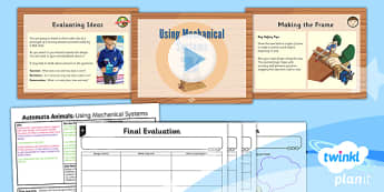 PlanIt - Design and Technology UKS2 - Automata Animals Lesson 6: Mechanical Systems Lesson Pack - evaluate, peer feedback