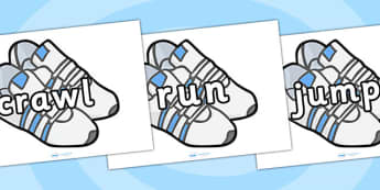 PE Keywords On Trainers - sports, physical eductation, display