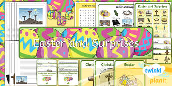 PlanIt - RE Year 1 - Easter and Surprises Additional Resources - RE, easter, surprises, planning, Religious education, christianity, lent