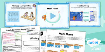 PlanIt - Computing Year 5 - Scratch Lesson 1: Maze Game Lesson Pack