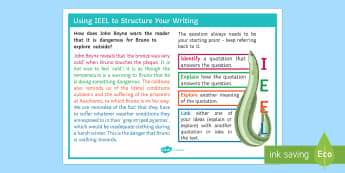 Example of Structured Paragraph IEEL Poster - IEEL, PEAL, PEE, PEEL, PEA