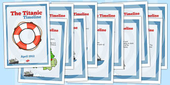 The Titanic Order Of Events Timeline Posters - poster, timelines