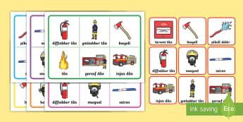 Bingo Dioglewch Tân - Wythnos Genedlaethol Diogelwch Tân, National School's Fire Safety Week, fire, tan, tân, fireman,