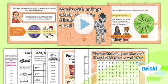 PlanIt Year 6 Term 2B W1: Words With Endings Which Sound Like /shuhl/ After a Vowel Letter Spelling Pack - Spellings Year 6, Y6, cial, SPaG, GPS, weeks weekly, lists, spelling, spell, ending, suffix,