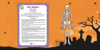 Stick Skeleton Outdoor Activity
