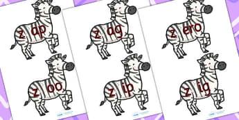 z sound And Vowel Animal jigsaw - vowels, grammar, phonemes