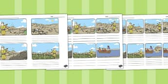 The Sower and the Seeds Storyboard Template - parables, seeds