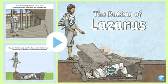 The Raising of Lazarus Bible Story PowerPoint - raising of Lazarus, bible story, stories, Jesus miracles, Jesus the healer, miracle stories,