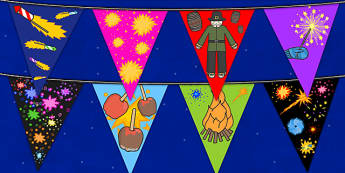 Bonfire Night Display Bunting - bonfire night, display bunting, bunting, display, bunting for display, classroom display, themed bunting, bonfire display