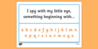 I Spy Alphabet - I spy, game, activity, class, alphabet, letters, phase, sounds, spy