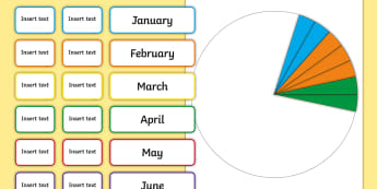 Pie Chart Class Birthday Pack - birthday, date of birth, born, age, pie chart, data, display