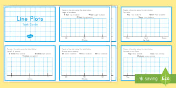 Line Plots Task Cards - Common Core, Second Grade, Measurement and Data, Line Plots