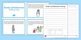 Garden of Gethsemane Activities - garden, gethsemane, activities, role play, newspaper report
