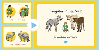 Irregular Plural Ves For Words Ending F And Fe PowerPoint - presentation, suffix, consonants, syllable, non-standard, lots, multiple, sentences, phrases,