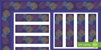 Happy New Year 2017 Display Borders - firework, new year, celebrate, celebration,
