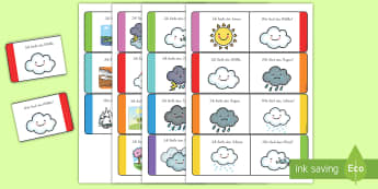 Wetter und Jahreszeiten Memory Karten - Weather Loop Cards - weather, loop cards, loop, cards, activity, waether, WHEATHER, wetaher, weaher,